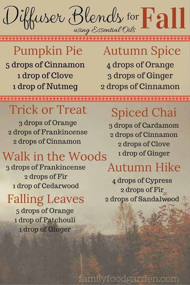 Diffuser Blends for Fall using Essential Oils