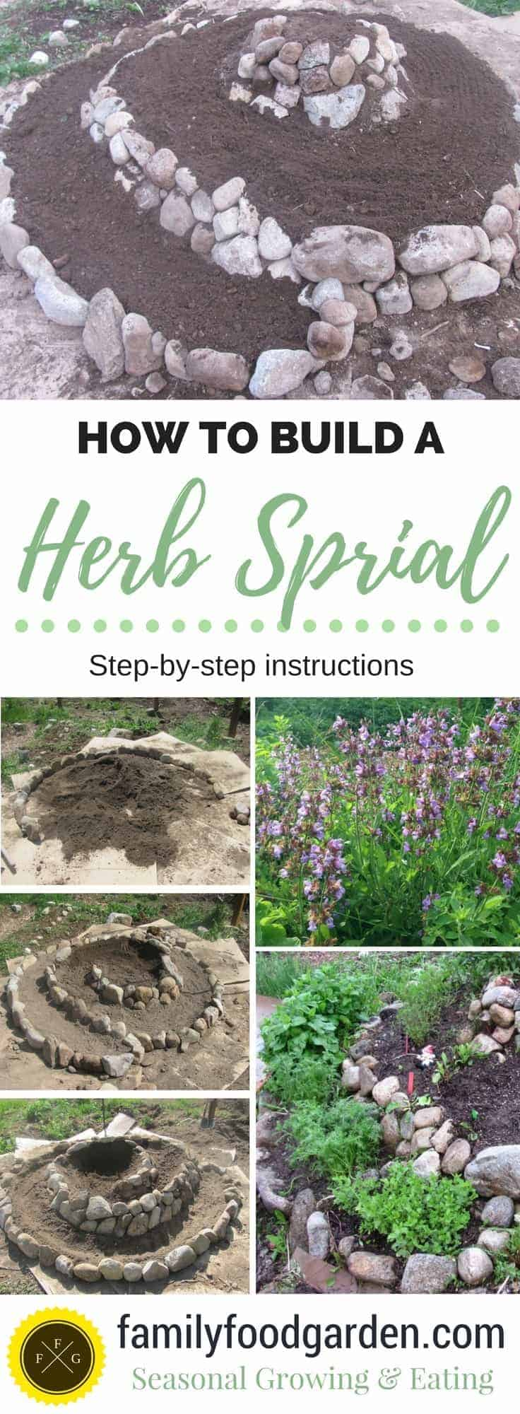 Herb Spiral: Step-by-step Instructions for how to build one