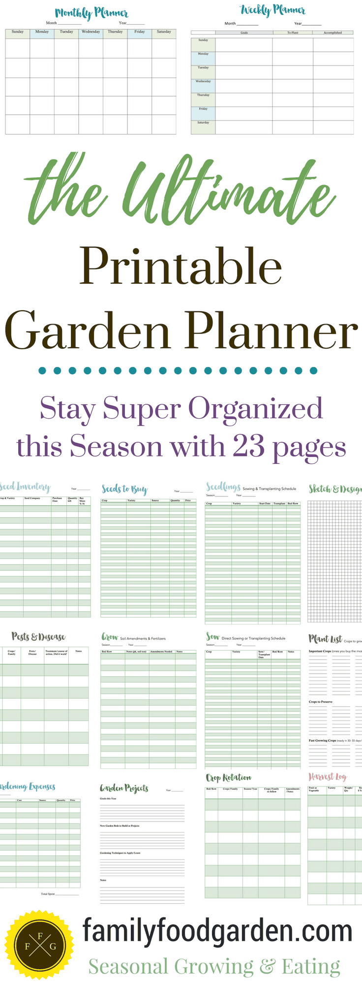 A garden planner to help you grow more food family food for Planning out a vegetable garden